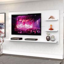 "Painel New Clean 160cm P/TV até 49"" Branco Artico - Zanzini -"