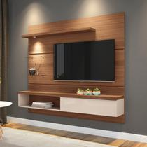 """Painel p/ TV 55"""" Home Suspenso Ores 1.8 HB Móveis Nature/Off White - Hb moveis"""
