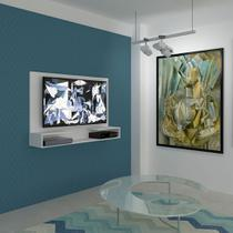 Painel para TV 1.3 Picasso Branco com Prateleira e Suporte Multivisão -