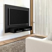 Painel para TV 42 Polegadas 2 Nichos Flash Arlety Preto - Artely