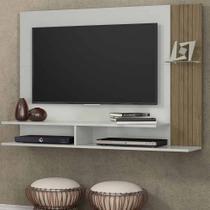Painel para TV 43 Polegadas Ipê Avelã e Off White 128 cm - Linea brasil