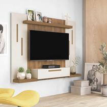 Painel para TV 50 Polegadas 1 Porta Cronos Artely Off White/Pinho -