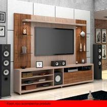Painel para TV 50 Polegadas Atenas Santana e Ameixa Negra 240 cm - Knr móveis