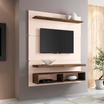 Painel para TV 50 Polegadas Life Off White e Deck 136 cm - Hb móveis