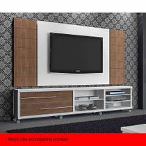 Painel para TV 50 Polegadas Milão Carvalho Évora e Branco Fosco 200 cm - Knr móveis