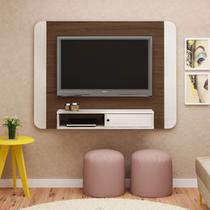 Painel Para Tv 50 Polegadas  Wave Artely Amêndoa Off White -
