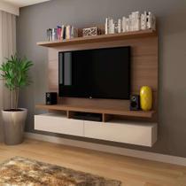 Painel para TV 50 Polegadas Zeus Natural e Off White 184 cm - Mobly
