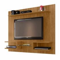 Painel Para Tv 55 Pol Com Prateleiras 163 Cm Cor Marrom - Bechara