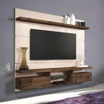 Painel para TV 55 Polegadas Livin Off White e Deck 181 cm - Hb móveis