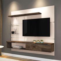 Painel para TV 55 Polegadas Ores Off White e Deck 181 cm - Hb móveis