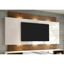 Painel para TV 58 Polegadas com Led Macke Off White e Nobre - Dalla costa