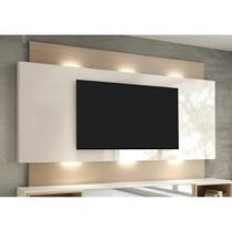 Painel para TV 58 Polegadas com Led Morisot II Off White e Natural - Dalla costa