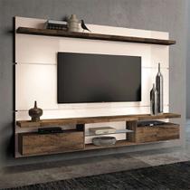 Painel para TV 60 Polegadas Livin Off White e Deck 220 cm - Hb móveis