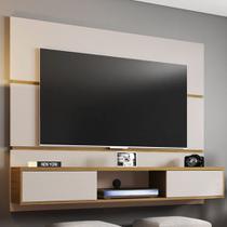 Painel Para Tv 65 Polegadas 2 Portas âmbar Off White/cinamomo - Móveis Bechara -