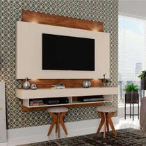 Painel para TV 65 Polegadas Araxá II Branco Brilho e Nobre 181 cm - Dalla costa