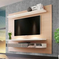 Painel para TV 65 Polegadas com Led Monet Natural e Off White - Dalla costa