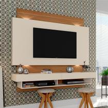 Painel para TV 65 Polegadas Forseti Off-White e Freijo 181 cm - Dalla costa