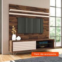 Painel para TV 70 Polegadas Venezza Deck e Off White 180 cm - Hb móveis