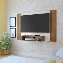 Painel Para TV até 40 Polegadas 1 Nicho Cine Artely Off White/Pinho -