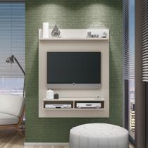 Painel para TV até 40 Polegadas com Nichos Somopar Home Clássico Branco Off -
