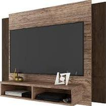 Painel para TV até 42 Polegadas 2 Nichos Munique Linea Brasil Flex Color Naturale/Wengue -
