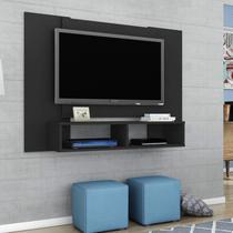 Painel para TV até 42 Polegadas 2 Nichos Navi Móveis Bechara Preto Fosco -
