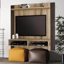Painel para TV até 42 Polegadas Capri Linea Brasil Capuccino Wood / Ébano -