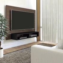 Painel para TV até 42 Polegadas com Nicho Flash Artely Amêndoa/Preto -