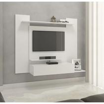 Painel para tv até 43 pol. modelo 02 com 01 gaveta e 03 prateleiras - drw móveis - branco -