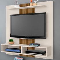 Painel Para Tv Até 43 Polegadas 2075550 Gama Off White/ripado - Bechara Móveis - Móveis Bechara