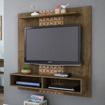 Painel para TV até 43 Polegadas Gama Móveis Bechara Madeira Rústica/Madeira 3D -