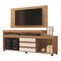 Painel para TV até 43 Polegadas Wood com Rack Triunfo para tv até 50 Polegadas Mavaular Damasco Cestaplus -