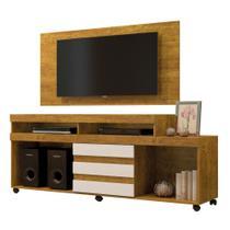 Painel para TV até 43 Polegadas Wood com Rack Triunfo para tv até 50 Polegadas Mavaular Mel Cestaplus -