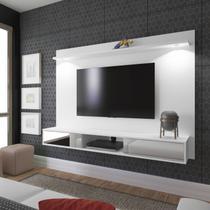 Painel para TV até 47 Polegadas 2 Portas com Espelho e LED Platinum Artely Branco -