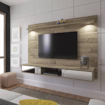 Painel para TV até 47 Polegadas 2 Portas com Espelho e LED Platinum Artely Rústico -