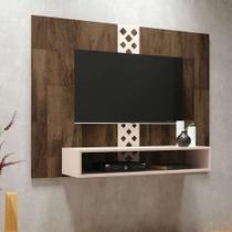 Painel para TV até 47 Polegadas Form Marrom Deck e Off White - Hb móveis