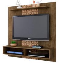 Painel para TV até 47 Polegadas Gama Madeira Rústica / Madeira 3D - Bechara -