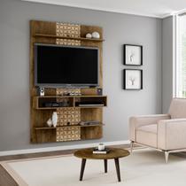 Painel para TV até 47 Polegadas Vega Madeira Rústica e Madeira 3D - Móveis bechara