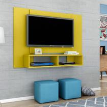 Painel para TV até 48 Polegadas Navi Amarelo 120 cm - Móveis bechara
