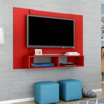 Painel para TV até 48 Polegadas Navi Vermelho 120 cm - Móveis bechara