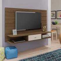 Painel para TV até 50 Polegadas 1 Gaveta Studio Artely Amêndoa/Off White -
