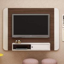 Painel para TV até 50 Polegadas 1 Porta 1 Nicho Wave Artely Amêndoa/Off White -
