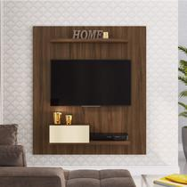 Painel para TV até 50 Polegadas 1 Porta Basculante Estilare Móveis Madeirado/Off White -