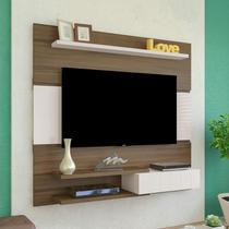 Painel para TV até 50 Polegadas 1 Porta Monza Artely Amêndoa/Off White -