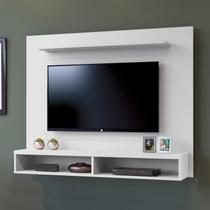 Painel para TV até 50 Polegadas 2 Nichos Topázio Contemporâneo Mavaular Branco -