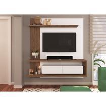 Painel para TV até 50 Polegadas 2 Portas Basculantes 3 Prateleiras Est203 Criando Mobília Branco/Madeirado - Criando Mobilia