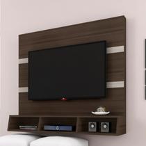Painel para TV até 50 Polegadas 3 Nichos Marrocos Poliman Amêndoa/Rovere - Poliman móveis