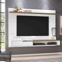 Painel para TV até 50 Polegadas Balaton Branco e Freijó - Olivar móveis