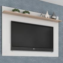 Painel Para Tv Até 50 Polegadas Benevello 2035 Branco/siena - Quiditá Móveis -