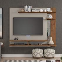 Painel para TV até 50 Polegadas com Espelho Bali Siena Móveis Off White/Savana -